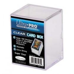 Pudełko plastikowe na 100+ kart - przezroczyste