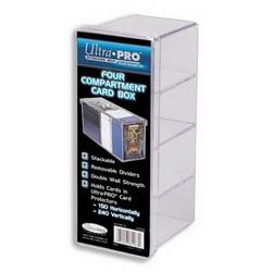Pudełko plastikowe na 150 + kart, 4-częściowe - przezroczyste