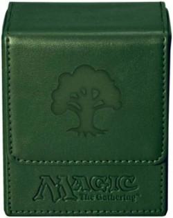 Pudełko na 100 kart MTG - Green Mana Flip Box