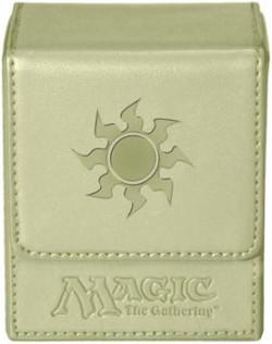 Pudełko na 100 kart MTG - White Mana Flip Box