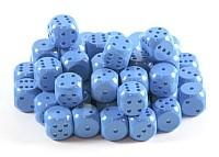 Kostki w kompletach:niebieskie  matowe K-6 - oczka/10 szt/