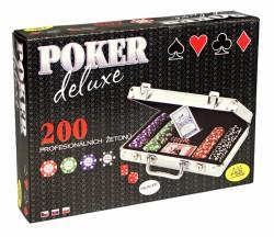 Zestaw Pokerowy Poker Deluxe 200 żetonów