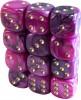 Kostki w kompletach: toxic purpurowe K-6 - oczka/12 szt/